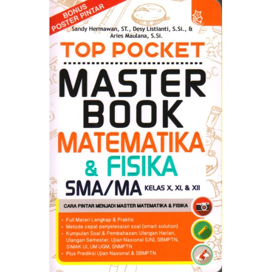 Top Pocket Master Book Matematika & Fisika SMA/MA Kelas X, XI, & XII
