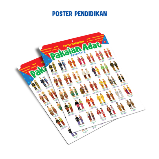 Poster Pendidikan Pakaian Adat Nusantara