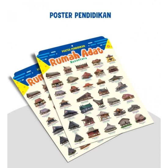 Poster Pendidikan Rumah Adat Nusantara