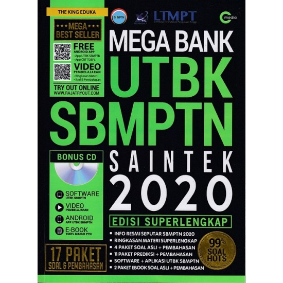 Mega Bank UTBK SBMPTN Saintek 2020 (Plus CD)