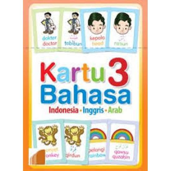 Kartu 3 Bahasa : Indonesia-Inggris-Arab