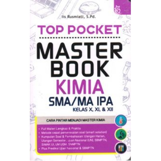 Top Pocket Master Book Kimia SMA/MA Kelas X, XI, & XII