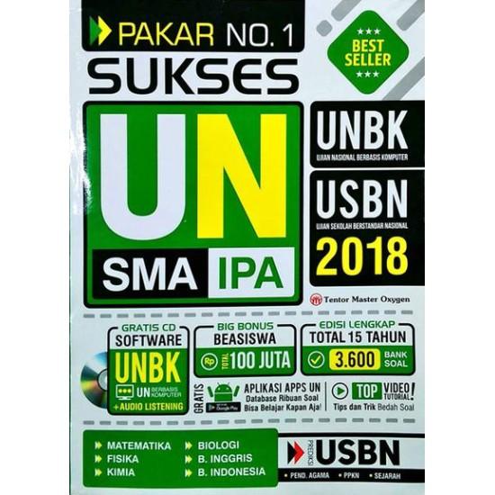 Pakar No. 1 Sukses UN SMA IPA 2018 (GRATIS CD Software UN Berbasis Komputer + Audio Listening)