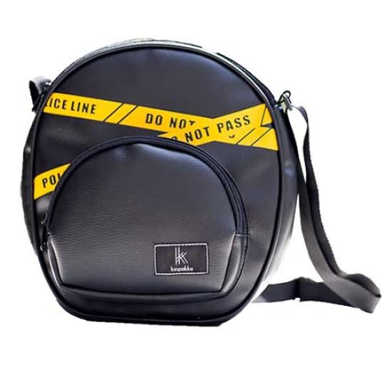 Kinpakku Police Line Slingbag - Black