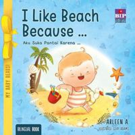 My Baby Reads ! I Like Beach Because…