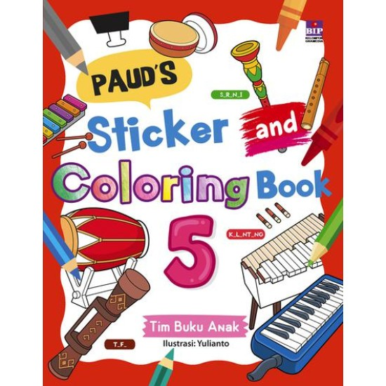 Paud's Sticker And Coloring Book 5