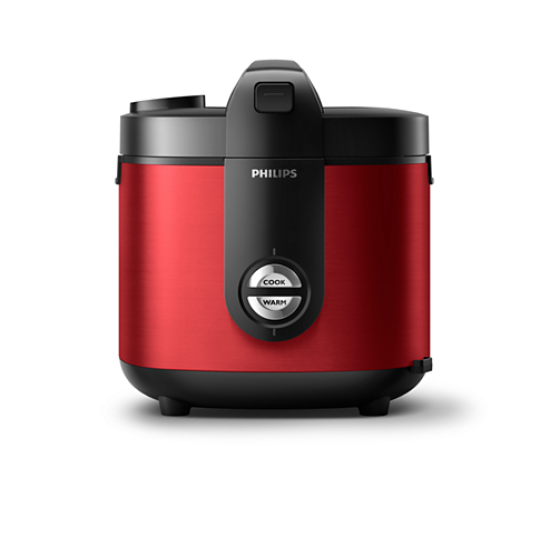 Philips Rice Cooker 2 L HD 3132/32 Premium Plus - Red