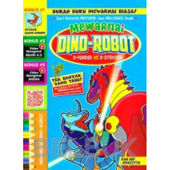 Mewarnai Dino-robot D-fender Vs D-stroyer